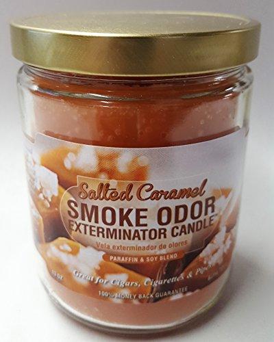 Smoke Odor Exterminator 13oz Jar Candles (Salted Caramel, 1), 13 oz