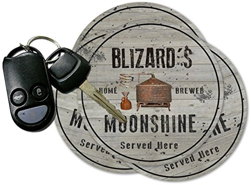 BLIZARD'S Home Brewed Moonshine Coasters - Set of 4