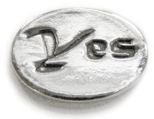 Basic Spirit Yes/No Pocket Token (Coin) * Handcrafted Pewter Home Lead-Free CN-33