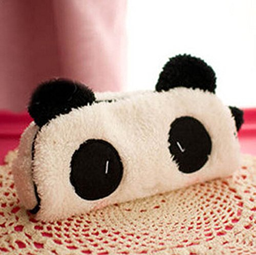ZHIKE Panda Estuche, Cute 3D Peluche Hairy lápiz Bolsa ...