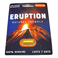 3 Pack Eruption 35000 Natural Formula Eruption - Male Enhancement Pills for Men - Excellent Male Enhancement Powerful TIME Size Stamina 35K