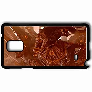 Personalized Samsung Note 4 Cell phone Case/Cover Skin Alien Black