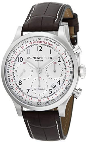 BAUME & MERCIER CAPELAND Silver Dial Automatic Chronograph Date Men watch MOA10041