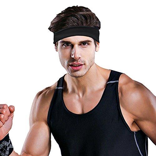 Hippih Guys Sweatband Sports Headband for Running, Working Out, Yoga