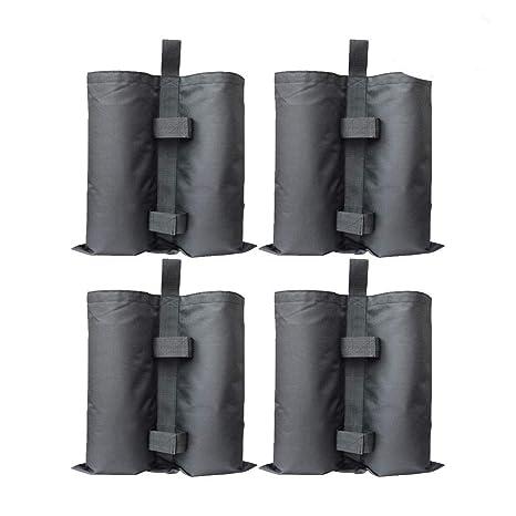 RIOGOO 4pcs-Pack Pesos para Carpas Bolsas Pesadas de Arena Cosida de Grado Industrial para Trabajo Pesado, Pesas de piernas para Pop-up Canopy Carpa ...