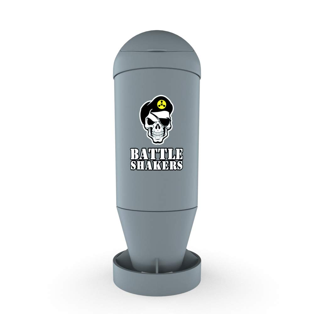 Battle Shakers Torpedo Shaker Cup | 20 Oz Leak-Proof Shaker Bottle | Protein Cup with Storage Compartment | Dishwasher Safe & BPA Free Sports Bottle