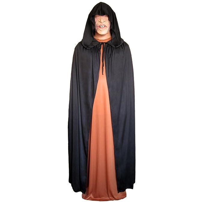 seasonstrading 54 black cloak with large hood halloween costume cape