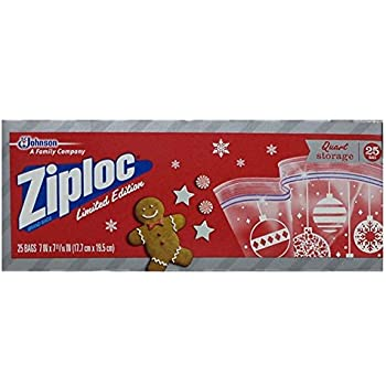 Amazon Com 50ct Christmas Zipper Seal Sandwich Holiday