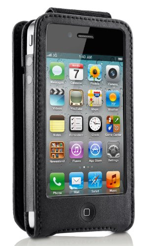 Belkin Leather 011 Leder Folio für Apple iPhone 4/4S schwarz