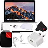 Apple 12 MacBook (Mid 2017 Silver) 256GB SSD (MNYH2LL/A) + 2.4 GHz Slim Optical Wireless Bluetooth + Padded Case MacBook Bundle