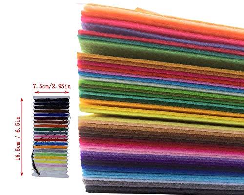 levylisa Homemade 48pcs assortedハードフェルト生地シート、フェルトバンドル、不織布シート、フェルトシート、フェルト、不織布シート、フェルトフラワーMaking、正方形フェルトおもちゃ、フェルト詰め合わせパック 12 x12 inches マルチカラー buzhibu483030