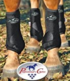 Professionals Choice Equine Sports Medicine Ventech Elite Leg Boot Value Pack, Set of 4 (Small, Black)
