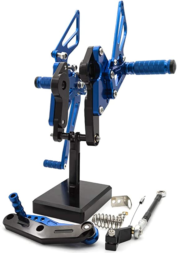 SMOKU MOTOR CNC Aluminum Rising Kit Footrest Rearset Kit for Yamaha MT09//FZ09 2014-2017 Gold