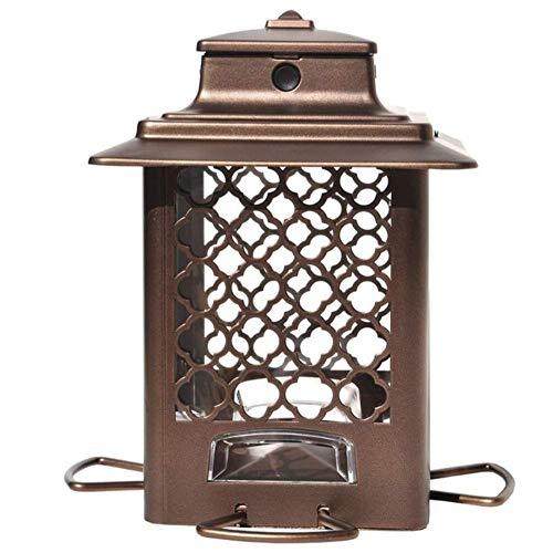 Stokes Select Metal Hopper Bird Feeder, 4 Feeding Ports, 3.3 lb Bird Seed Capacity, Copper Finish