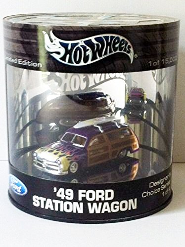 HOT WHEELS OIL CAN '49 FORD STATION WAGON DROP TOPS DESIGNER'S CHOICE (1 Oil Wagon)