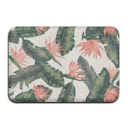 Best Music Posters Pink Floral Flowers Leaves Funny Door Mat