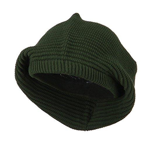 Medium Crown New Rasta Beanie Hat - Olive OSFM - Rasta Ski