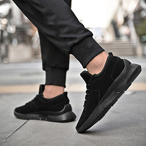 Men's Shoes Feifei Spring and Autumn Movement Heighten Casual Shoes 3 Colors(Size Multiple Choice) (Color : Black, Size : EU42/UK8.5/CN43)