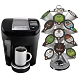 Keurig V500 Vue Black Single Serve Brewing System with 24 Portion Pack Carousel