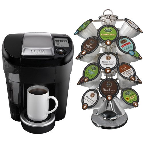 Keurig V500 Vue Black Single Serve Brewing System with 24 Portion Pack Carousel by Keurig