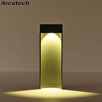GYBYB LED Lámpara de césped Lámpara de pie Exterior Impermeable Iluminación exterior Paisaje Jardín Parque Comunidad Villa Jardín Luces Lámpara de césped NR-30 @ Warm_White_300mm_Gray_Body: Amazon.es: Iluminación