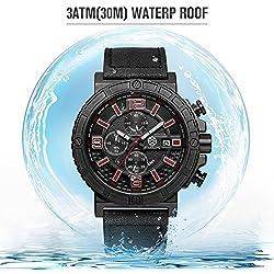 STARKING Men's Chronograph Black Quartz Sports Military Watch TM0902
