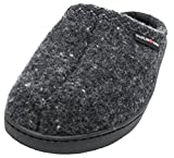 Haflinger Unisex AT Boiled Wool Hard Sole Slipper (42 M EU / 11 B(M) US, Dark Grey Speckle)
