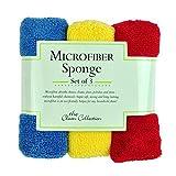 Heart of America Set of 3 Assorted Primary Microfiber Sponge