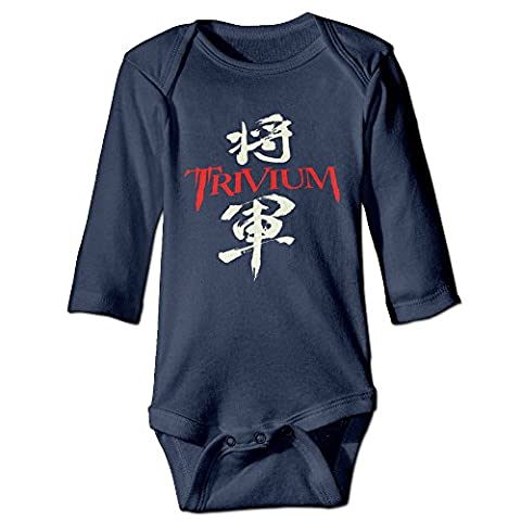 HYRONE Trivium General Rock Band Baby Bodysuit Long Sleeve Romper Suits Size 12 Months Navy (Gone Baby Gone Movie Poster)
