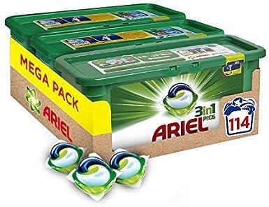 Ariel 3-In-1 Pods Detergente En Capsulas - 114 Lavados (3 X 38 ...
