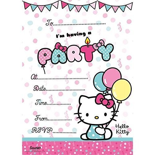 - Hello Kitty 20 party Invitations with envelopes by Hello Kitty
