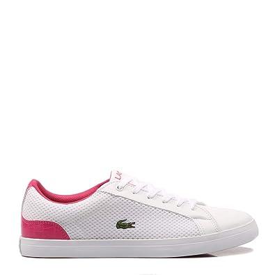 096cb58768d58b Lacoste, Lerond 119 2 White/Pink 37CUJ0013 Sneaker pour Femme, 5M-39 ...