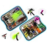 Dry Wet Fly Fishing Flies Lures Tackle Box Set Butterfly Nymph Flies Woolly Bugger Flies Streamers Caddis Fly Flies Trout Assortment