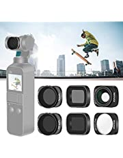 Neewer Lens Filter Set Compatibel with DJI Osmo Pocket Camera Lens: ND8 ND16 ND8/PL ND16/PL Filters, 10X Macro Lens 0.65X Wide Angle Lens, Magnetic Design, Ideal for Outdoor Photography Video