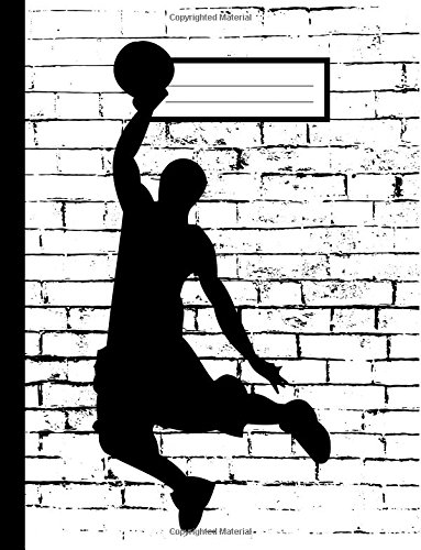 """Download Basketball Notebook: College Ruled, Large, 8 1/2"""" x 11"""", Sports Theme Composition Notebook, Lined Writing Journal, Softcover, 100 sheets/200 pages PDF"""