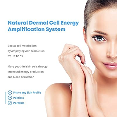 NuDerma Skin Therapy Wand - Portable Handheld High Frequency Skin Therapy Machine w/Neon - Acne Treatment - Skin Tightening - Wrinkle Reducing - Dark Circles - Puffy Eyes - Hair Follicle Stimulator