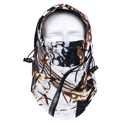 Accessories Ice Climbing (Your Choice Balaclava Fack Mask Warm Fleece Hood Neck Warmer for Hunting, Hiking, Climbing and Any Winter Outdoor Sports White Brown)