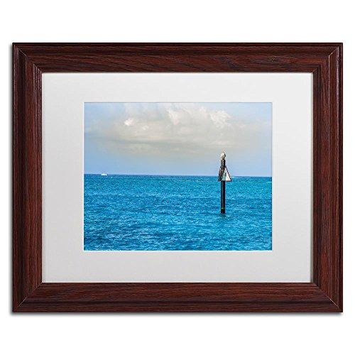 norkel Spot 4 by Yale Gurney, White Matte, Wood Frame 11x14-Inch ()