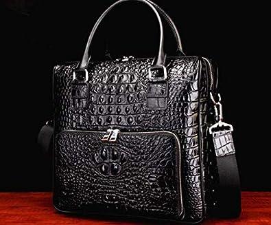f6d28acf03d3 Amazon | 新品 ワニ革 クロコダイルレザー ビジネスバッグ 本革 鞄 メンズバッグ 大容量 多機能 ブラック 黒 | トートバッグ