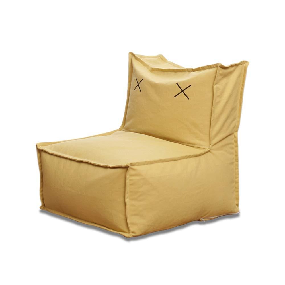 YJchairs Sitzsack - Faules Sofa mit Rückenlehne EPP Kindersitz Einziger Stuhl (Farbe   Rosa Canvas) Gelb Canvas