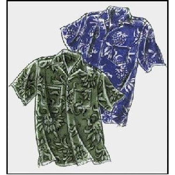 Amazon.com: Men's Classic Hawaiian Aloha Shirt Sewing Pattern #220 ...