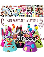 Glittery Garden Party Hats Making Activity Kit Diy Craft Set W 12 Colorful Hats Pompoms And Stickers Fun Celebration Kit For Kids Birthday Easter Christmas Fiesta Thanksgiving And New Year Great As Ha