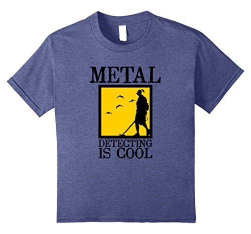 Price comparison product image Kids Metal Detector T-Shirt / Metal Detecting is Cool 12 Heather Blue