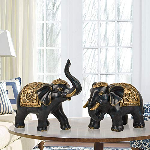 Amazon.com: yhuajuan European Elephant Living Room Lucky Decoration ...