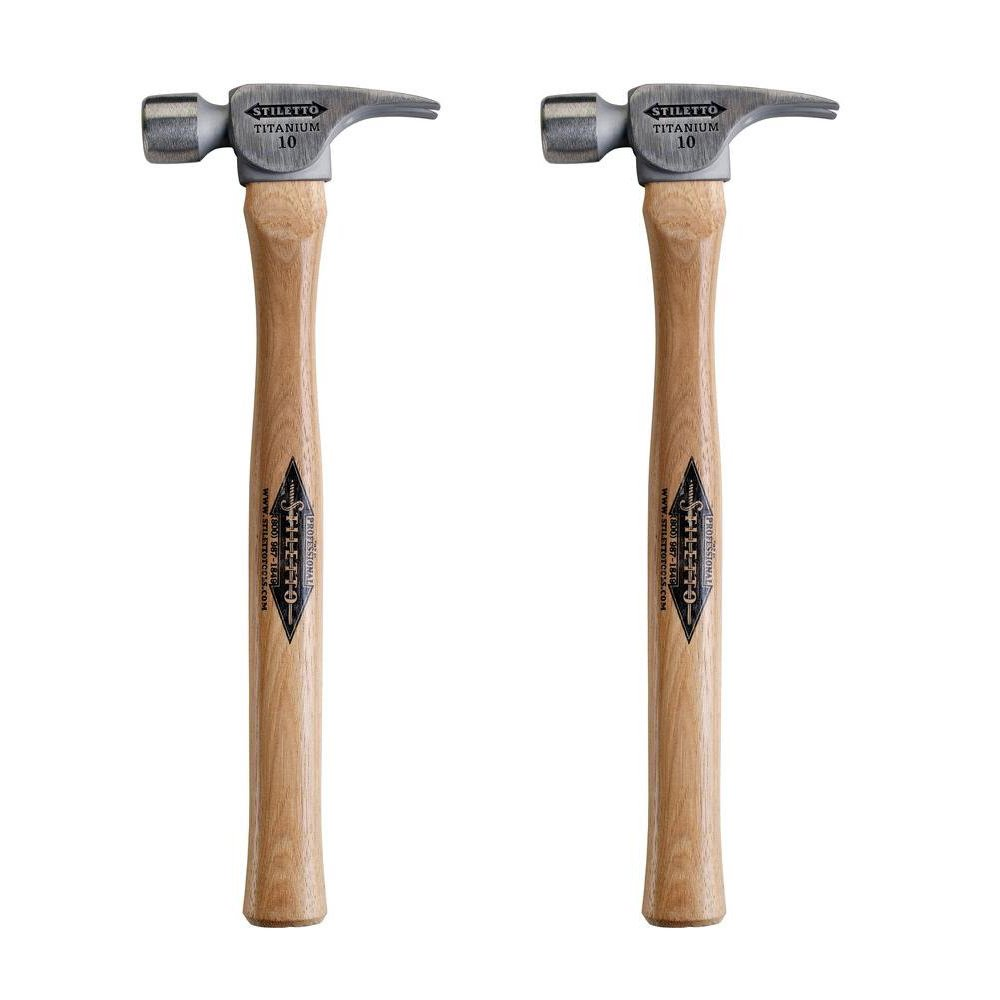 Stiletto FH10S 10 oz Titanium Smooth Face Hammer, 2-Pack