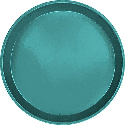 12' Round Serving Tray (Serving Camtray, Round, 12'' Diameter, Fiberglass, Aluminum Reinforced Rim, Teal, Nsf Special Order (12 Pieces/Unit))