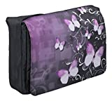 MySleeveDesign 17 - 17.3'' Laptop Messenger Bag Notebook Shoulder Bag for 13.3 Inch / 14 Inch / 15.6 Inch / 17.3 Inch Laptops - SEVERAL DESIGNS - Butterfly Fusion
