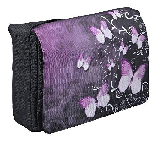 MySleeveDesign 17 - 17.3'' Laptop Messenger Bag Notebook Shoulder Bag for 13.3 Inch / 14 Inch / 15.6 Inch / 17.3 Inch Laptops - SEVERAL DESIGNS - Butterfly Fusion