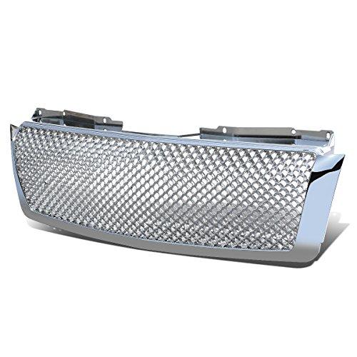 For Chevrolet Tahoe/Avalanche/Suburban ABS Plastic Diamond Mesh Front Upper&Lower Bumper Grille (Chrome)