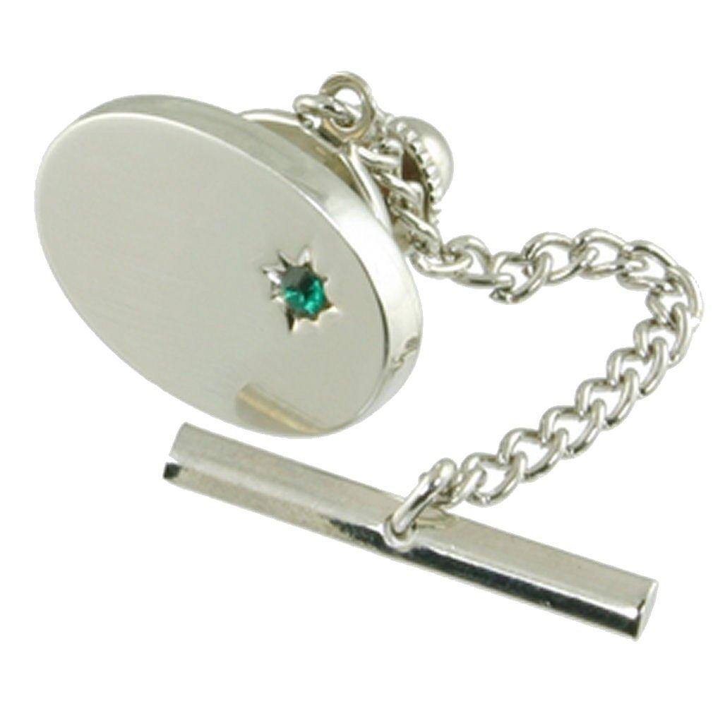 Tac corbata verde esmeralda Crystal Plata Rodio Seleccione bolsa ...